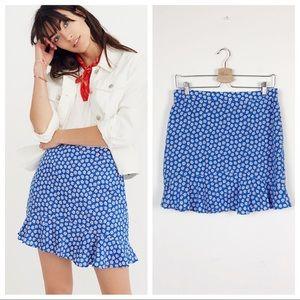 Madewell • Ruffle-Edge Skirt in Mini Daisy